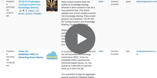 View this Short Video to See How Quickly you can Build Content with MyCurator